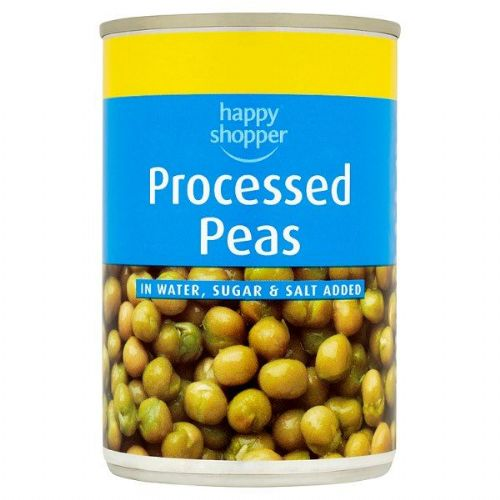 Happy Shopper Processed Peas in Water, Sugar and Salt Added  (UK)
